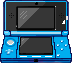 Blue pixel 3DS by samXwow