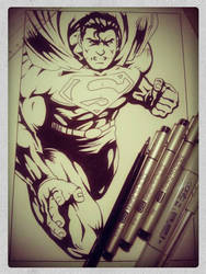 Supes WIP by DaveLungArt