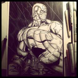 The First Avenger by DaveLungArt
