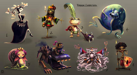 Random Characters by ltramaral