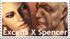 Resident Evil - Excella X Spencer STAMP by ForeverSonu