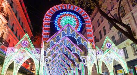 Tunnel of lights - Lyon 2012 by Wondercookies