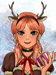 Winter Deer by whitewolfdreamer27