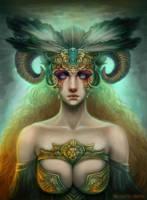 Valiant Goddess by MarjorieDavis