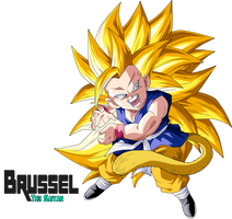 Super Saiyan 3 Goku Gt by BrusselTheSaiyan