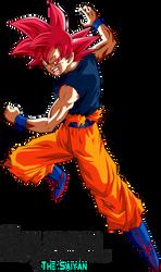 Super Saiyan God Goku by BrusselTheSaiyan