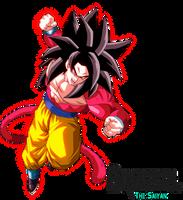 Full Power Super Saiyan 4 Goku by BrusselTheSaiyan