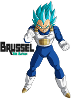 Super Saiyan Blue Vegeta by BrusselTheSaiyan