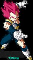 Super Saiyan God Vegeta DBS Broly by BrusselTheSaiyan