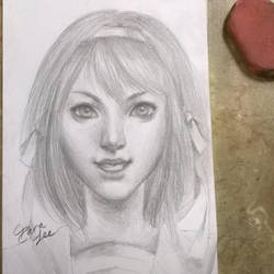 Haruhi Suzumiya Portrait Sketch by Lashialee