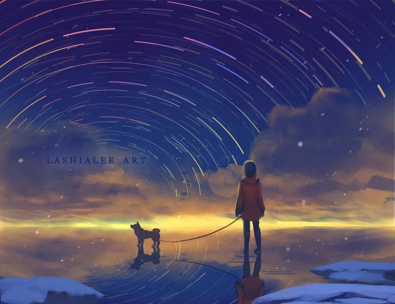 Snow Rainbow Star by Lashialee