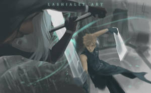 Cloud Vs Sephiroth by Lashialee