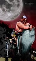 true asterix and obelix BW by 0nesto