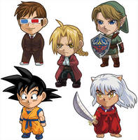 Artist Alley Test Chibis by alamedyang