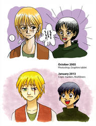 Before and After - 'Mikun and Kiban' by alamedyang