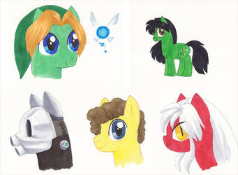 ToshoCon 2013 Pony Commissions by alamedyang