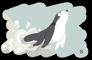 Otter Penguin - WIP by ShelbsTheGing