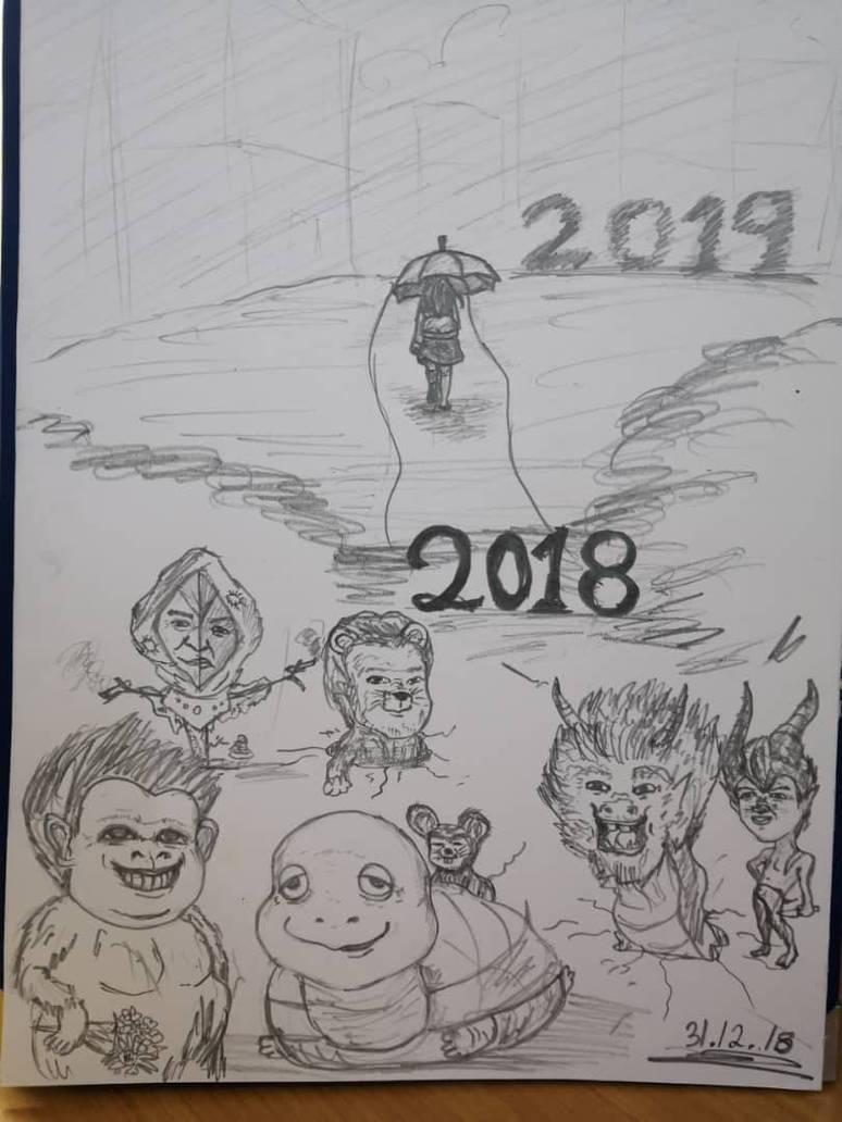 Pencil Sketch 80 keep going! by PauYee