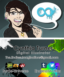 (Personal) Business Card 2017 by Syrae-Universe