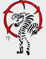 Chinese Tribal : The Tiger by Sakashima
