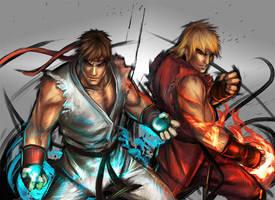 Street Fighter- Ryu-Ken by YamaOrce