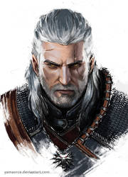 Geralt Portrait by YamaOrce