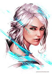 Ciri - The Witcher 3 by YamaOrce