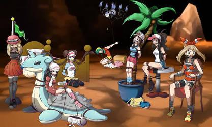 Pokemon Secret Base Attack by twichdouglas