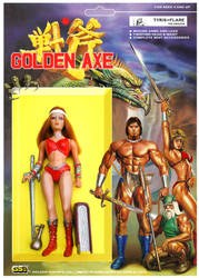 GOLDEN AXE 2 FIGURE  TYRIS FLARE BLISTER by crowbrandon