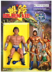 GOLDEN AXE FIGURE TARIK / AX BATTLER THE BARBARIAN by crowbrandon