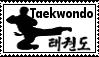Taekwondo flying side kick stamp by templarknight94
