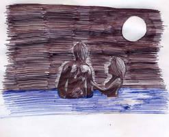 breaking dawn - swiming by Griselibiris