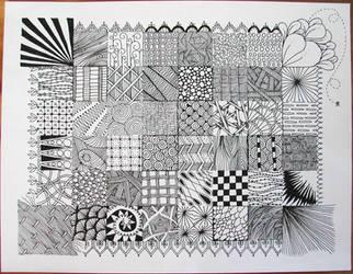 Zentangle Sampler by joanieponytail