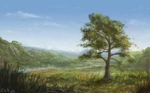 Serene landscape by rambled