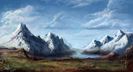 Lonely mountains by rambled