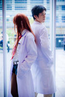 Steins Gate Kurisu and Okabe by FalCieYume