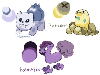 Pokemon Fusion Fun 7/19/17 by PancakeSid