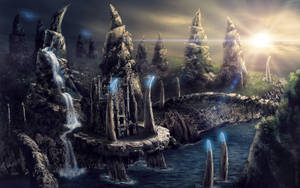 The Crab Mountains Island by Ksenos-ks