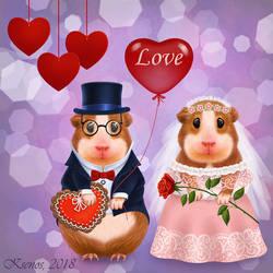 Mr. and Mrs. Guinea Pig by Ksenos-ks