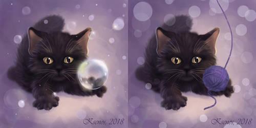 A black kitten by Ksenos-ks