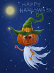 The pumpkin - ghost by Ksenos-ks