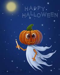 The pumpkin - ghost (variant) by Ksenos-ks