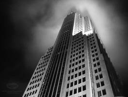 NBC Tower late night by spudart
