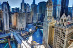 Chicago River dyed blue for Cubs World Series by spudart