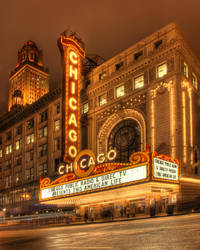 Chicago Theater Marquee by spudart