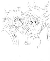 Casual and Junketsu Ryuko by SunflowerInTheRain