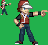 Pokemon Trainer Red Sprite by DMN666