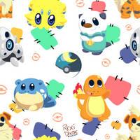 Pokemon Pattern by RexiDoodle