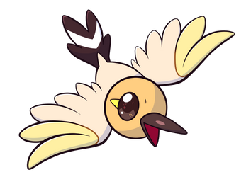Type Collab Particularly Normal: Shiny Fletchling by RexiDoodle