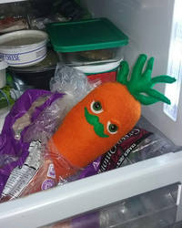 Suspicious Carrot Plushie by AllDolledUpByEm